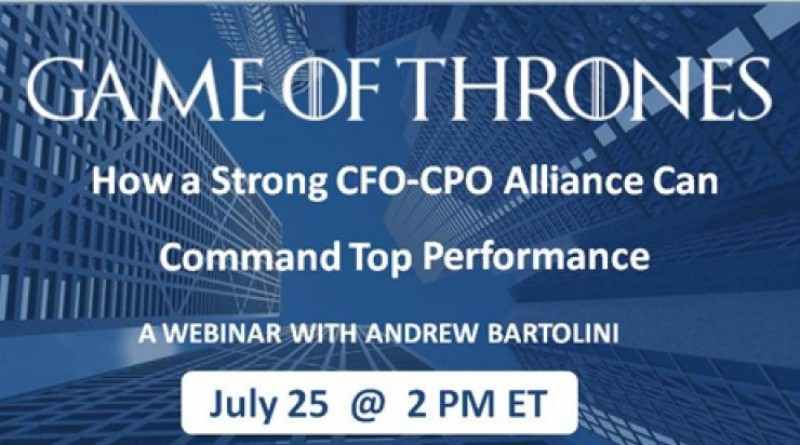 Game of Thrones: How a Strong CFO-CPO Alliance Can Command Top Performance