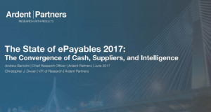 The State of ePayables 2017: The Convergence of Cash, Suppliers, and Intelligence (New Report)